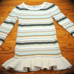 GYMBOREE ALL SPRUCED UP Ruffled Sweater Dress sz 7
